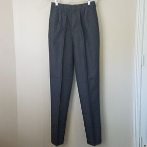 VTG charcoal ultra high waist trousers pants 6 NWT
